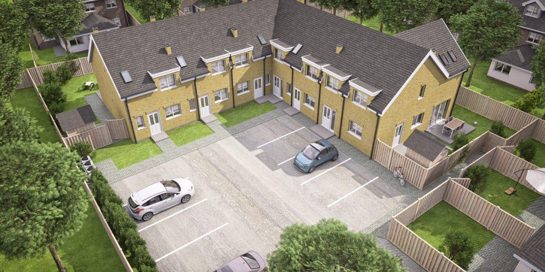 Šešių butų blokuotas gyvenamas namas
